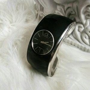 CALVIN KLEIN Gloss Black Cuff Watch